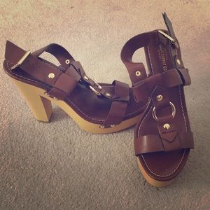 Mossimo Supply Co | Brown Wooden Heels